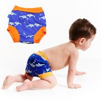 Wholesale Baby Swim Diaper - Leakproof Swimming Diapers High Waist Reusable Swim Diapers Elastic Well Baby Swim Trunks For 6M-5T Children Boys And Girls