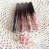 Wholesale Selling Wholesale Make Up - Free Shipping Hot selling KYLIE Cosmetic Metal Matte single Lip Gloss Lip Stick For Lady with 3 Colors Make Up By Kylie Jenner