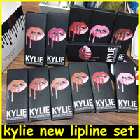 Wholesale Make Up Mix - new Kylie Lipliner pencil Velvetine Liquid Matte Lipstick Lip Gloss Kylie lip kit line Make Up 28 colors DHL free shipping