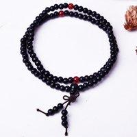 Wholesale Vintage Chinese Bracelet - Fashion Vintage Bowknot Bracelet Buddhist 108 beads wooden Chinese knot Pulseras Tibetan Style Stylish Chain Jewelry