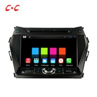 Wholesale Dvd Hyundai Free Rear - Quad Core Android 5.1.1 Car DVD Player for Hyundai IX45 with Radio GPS Navi Wifi DVR Mirror Link BT 1024X600+Free Gifts