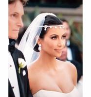gelin saç aksesuarları tiaras toptan satış-Bitki Tiara Noiva Sıcak Satış Koştu Tiaras Düğün Aksesuarları Gelin Saç Ücretsiz Nakliye Kaplama Kristal Çiçek Pins