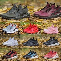 Wholesale New Designed Shoes - 2017 New Design Huarache 4 IV Running Shoes For Women & Men, Lightweight Huaraches Sneakers Athletic Sport Outdoor Huarache Shoes 36-46