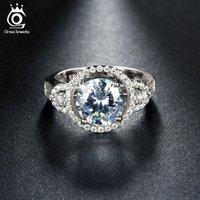 Wholesale Micro Pave Diamond Engagement Ring - New Arrival Luxury 2.5ct Simulated Diamond Wedding&Engagement Rings for Women Micro Paved 62 Pieces Austrian Zircon OR106