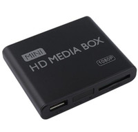 Wholesale Mini Media Player Media Box TV Video Multimedia Player Full HD p Support MPEG MKV H HDMI AV USB