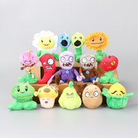 "Wholesale Plants Vs Zombie Figure Set - New 30 Set 420 pcs set of 6"" Plants VS Zombies plush toy action figures cool gift dolls"