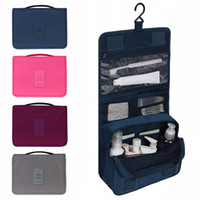 Wholesale- Unisex Hanging Toiletry Bag Kit Cosmetic Carry Travel Organizer  Make Foldable Storage Bag For Traveling Bathroom 9848d843926a2