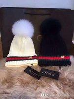 Wholesale C Gardens - Winter Knitted Beanie Label Women C Suprems Warm Cotton Hats L Brand Designer GG Lous Knit G Cap Folds Casual CC Beanies Hat
