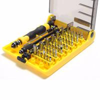 Wholesale Wholesale Mini Screwdriver Sets - Precision 45 In 1 Electron Torx Mini Magnetic Screwdriver Tool Set Hand Tools Kit Opening Repair Phone 4 4s 5 Ipad Tools
