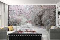 красивые обои природа оптовых-Красивая зима природа обои стены снег пейзаж обои Home Decor гостиная настенная живопись дизайн