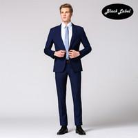 Wholesale Groom Summer Wedding Attire - Autumn suit men's cultivate one's morality leisure suit business attire suits the groom wedding dress wool suit
