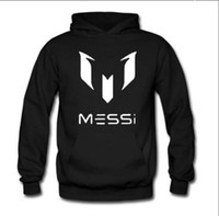 Wholesale Pullover Black Jacket For Men - Barcelona Barcelona   Messi 10   MESSI   LOGO hooded sweater jacket for men and women soccer