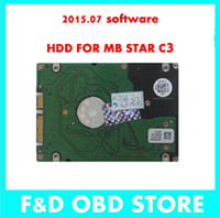 Wholesale Mb Star C3 Hdd - The Newest MB Star C3 HDD with V2015.07 Version Software in Multi-Language for D630 Laptop-- Free shipping