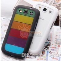 Wholesale Sumsung Galaxy S3 Covers - Free Shipping by DHL Wholesale New For Galaxy SIII S3 S Rainbow Soft Case Cover, Silicone case for Sumsung Galaxy i9300 RJ1170 0416dd