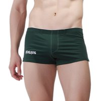 Wholesale Men S Cross Bags - High Quality Cotton Shorts WJ Causal Shorts Gay Sexy Cueca Boxers Big Penis Bag Comfy Sport Underpants Men Low Waist Shorts