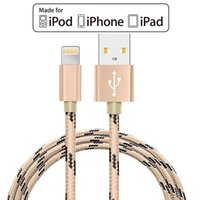 Wholesale Ipad 8pin Charger - MFI Lightning to USB Cable Pack Nylon Braided 8 pin Charging Cables 8pin USB Charger Cord for iPhone 7,7 Plus,6S Plus,5S,iPad.