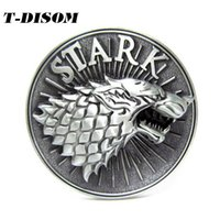 Wholesale Free Character Games - 2017 T-DISOM New Design Stark Belt Buckle Western Belt Buckle For Mens Accessories Suitable For 4cm Width Belt Game Of Thrones Gifts