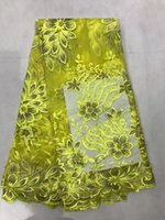 Wholesale Wholesale Net Evening Dresses - African Guipure French Lace Fabric 2017 African French Net Lace Fabric Latest African Laces Fabrics For Evening Dress Fabric GN010-1