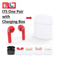 Wholesale Bluetooth Iphone Pairing - Original I7S Bluetooth Earbud with Charging Box One Pair Twins Wireless Invisible Headset With Mic Stereo bluetooth Earphone for Iphone 8
