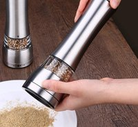 Wholesale Construction Pieces - New Manual Pepper Mill Salt And Pepper The Grinder Kitchen Tools 1 piece Silver Stainless Steel And Clear Acrylic Construction