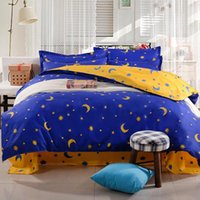 Wholesale-Fashion Cartoon Kind Erwachsene Polyester Blue Star Bettwäsche-Sets, Bettbezug Bettlaken Kissenbezug Twin full Queen-Size-Heimtextilien