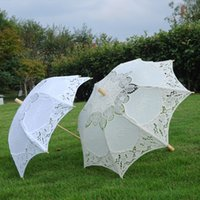 Wholesale Victorian Wood - Wedding Lace Parasol Bridal Style Umbrella Retro Wedding Party Victorian Style Princess Style BD001