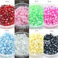Wholesale Mixed Seed Beads - 4mm about 700pcs Mixed colors DIY Czech Loose Spacer glass Seed beads garment accessories & jewelry findings