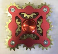 metal dişli oyuncakları toptan satış-Pirinç Handspinner Gadget 3 4 5 9 DIŞLI El Spinner Oyuncak Fidget Makinesi ile 9 Tekerlekler Üst Parmak Gyro Dekompresyon Anksiyete Oyuncaklar