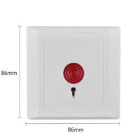 Wholesale Home Panic Button Security - home security alarm system white pc material Fire alarm retardant ABS plastic shell Emergency Fire Switch Panic Button