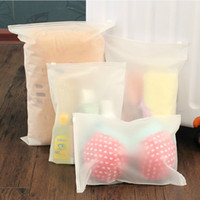Wholesale Transparent Clothes Pouches - Swimming Bags Matte Frosted Travel Pouch Swimming Bag Sealed Waterproof Transparent Ziplock Bag For Clothing Bras Shoes New
