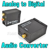 Wholesale Digital Sound Converter - T Analog to Digital ADC Converter Optical Coax RCA Toslink Audio Sound Adapter SPDIF Adaptor for Apple TV for Xbox 360 DVD