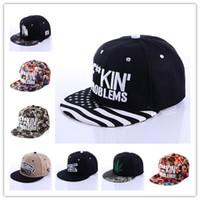 Wholesale Bone Problems - 5 Color F**FKIN PROBLEMS snapback cap Fresh Baseball Caps Fashion hat Sports Bone Women Hats Men gorras Caps Casual casquette 003