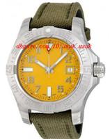 relogio amarelo relógios automáticos venda por atacado-Relógio de pulso de luxo Moda Assista Avenger II Seawolf Amarelo Dial Men Watch A1733110-I519GCVT 45mm Mens Automatic Watch Watches