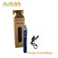 Wholesale E Cigarette Kanger Kits - Kanger Evod Mega kit E Cigarettes Evod Mega Starter Kit 1900mah Battery and 2.5ml Atomizer Tanks New Delta2