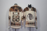 Wholesale New Cotton Camo Jacket - Top Quality ! 2016 New Chicago Blackhawks Old Time Hockey Jerseys 88 Patrick Kane Camo Hoodie Pullover Sweatshirts Sport Winter Jacket