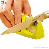 D005 FINDKING brand Two Stages (Diamond Ceramic) Affûteuse à couteaux, Sharpening Stone Home Knife Sharpener Outils de cuisine