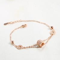 micro embutimento jóias de prata venda por atacado-handmade S925 Sterling Silver Rose pulseira de ouro jóias incrustadas de jóias micro coreano pavimentar fabricantes de zircão produtos de moda para as mulheres