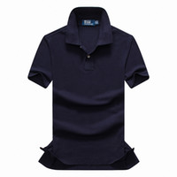 Wholesale New high quality men Fashion Brand Turn Down Collar Summer Casual Men s T Shirt Short sleeve t shirts cotton size S