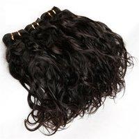 prix tissage péruvien de 12 pouces achat en gros de-8A bonne qualité Cheveux Cheveux Vague Naturels, Vague Naturelle Vierge Cheveux Humide et Ondulé, Extension de Cheveux Humains couleur naturelle