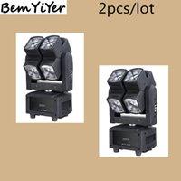 Wholesale Dual Moving Head - Wholesale- 2pcs lot color 8x10-Watt LED mini beam moving head effect light Quad-RGBW dual wheel 8 lens for dj, disco,ktv, bars