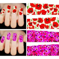 Wholesale Fashion Charm Mixed Flowers Nail Art Water Transfer Stickers Decoration Manicure DIY Beauty