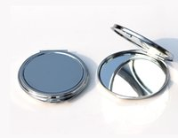 einfache taschenspiegel großhandel-Dünne kompakte spiegel 62mm Silber floral geprägte Leere Plain kleine tasche spiegel Für DIY Decoden M0832