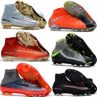 Wholesale Cheap Soccer Shoes Mercurial Superfly V FG High Quality ACC CR7 Football Shoes For Sale Soccer Cleats Magista Obra II Football Boots