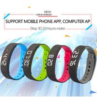 Wholesale Band Watch Mobile Phone Camera - Sleep Sports Fitness Activity Tracker Smart Bracelet A7 Band Pedometer Bracelet Watch Support Mobile Phone APP