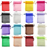 Wholesale Light Gift House - 5*7 7*9 9*12 13*18 15*20cm Drawstring Organza bag wrapping Gift Jewelry pouch Wedding Favor packaging bags