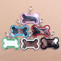 Wholesale Mini Stainless Steel Pet Cat Dog ID Tags Customized Personalized Bone Shaped Dog Tag