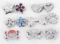 Wholesale rhinestone dog collar letters - 8 design 10mm rhinestone charms for DIY dog collars mix order free shipping