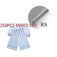 Wholesale 11rs Needle Tattoo - Assorted Disposable Round Shader Tattoo Needle 3RS 5RS 7RS 9RS 11RS 13RS 15RS Sterilized Needles for Tattoo Machine 250PCS Lot