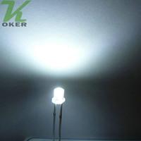 3mm führte weiße flache großhandel-1000 stücke 3mm Weiß Flache top LED Licht Lampe led Dioden 3mm Flat Top Ultra Helle Weitwinkel LEDs Kostenloser Versand