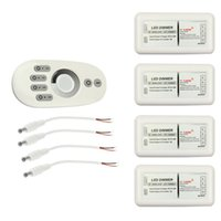4 Zone 2.4G RF Wireless Remote Controller Panel + tactile Commutateur de télécommande pour 5050 3528 couleur unique LED Strip Light Lamp 96W 12V 24V